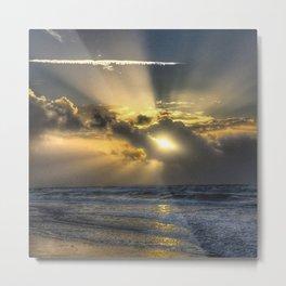 Sunrise North Topsail Island, NC God Sky Art  Metal Print