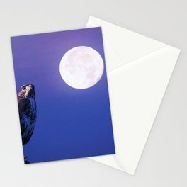 Bird of prey in the full moon Stationery Cards