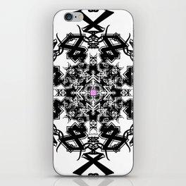 BLACK WHITE PINK caleidoscope koztar iPhone Skin