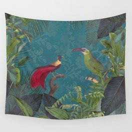 Birds Of Jungle Wall Tapestry