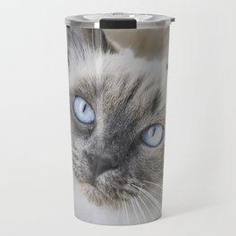 Blue eye cat Travel Mug