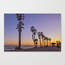 Ventura Moon, California Canvas Print