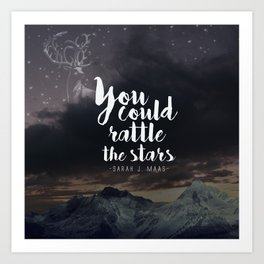 You could rattle the stars (stag included) Art Print