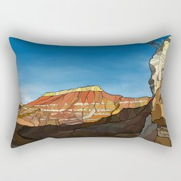 MTB Riding in Utah Rectangular Pillow