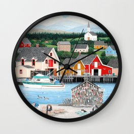 Fisherman's Cove Wall Clock