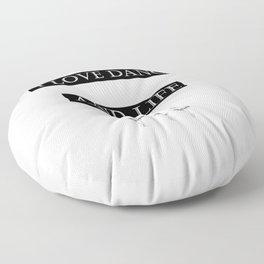 I Love... black 2 Floor Pillow