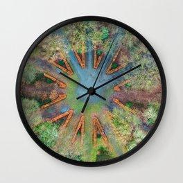 Natural clock green Wall Clock