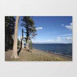 Yellowstone Lake View Canvas Print