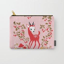 Cute Little Deer under Cherry Tree. Carry-All Pouch