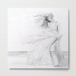 Gracefully Weathering the Storm Metal Print