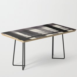 Painterly Plaid Coffee Table