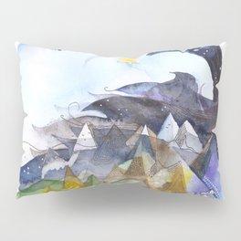 Day, night, mountains, love. Pillow Sham