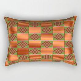 African Bright Kente Pattern Rectangular Pillow