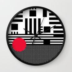 stripes mesh Wall Clock