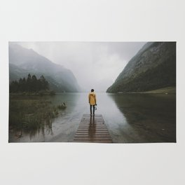 Mountain Lake Vibes - Landscape Photography Rug