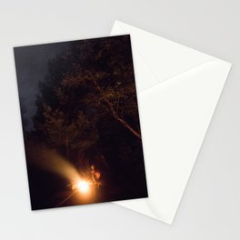 Night by campfire Stationery Cards