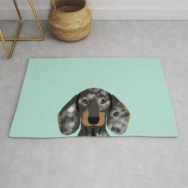 Doxie Dachshund merle dapple dog cute must have dog accessories dog gifts cute doxies dachshunds des Rug