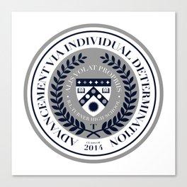 'El Presidente' Full AVID Official Seal (Senior 2014) Canvas Print