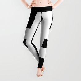Hash Sign (White & Black) Leggings