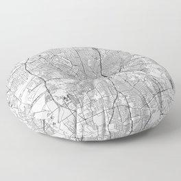 Dallas White Map Floor Pillow