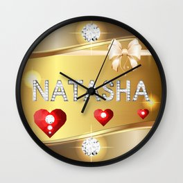 Natasha 01 Wall Clock