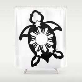 Turtle Pinoy Shower Curtain