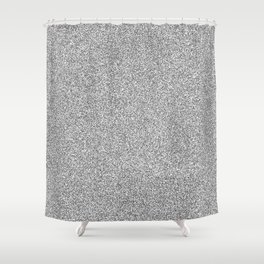 Melange - White and Dark Gray Shower Curtain