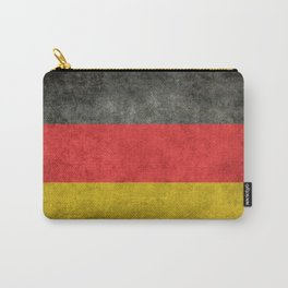 German National flag, Vintage retro patina Carry-All Pouch