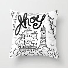 Ahoy! Throw Pillow