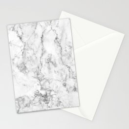 Gray Marble Background Stationery Cards