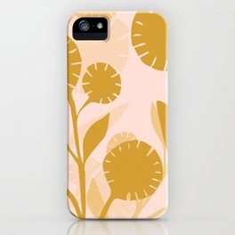 Wildflowers Large- Pink and Gold iPhone Case