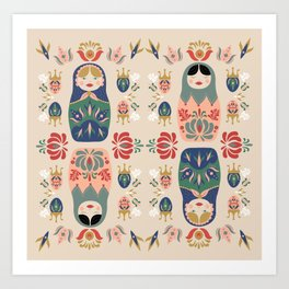 Matryoshka Dolls Art Print