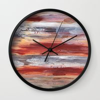 Rock Study in Browns Wall Clock