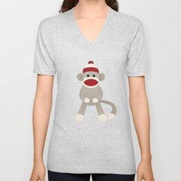 Sock Monkey Unisex V-Neck