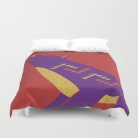 coyote Duvet Covers featuring Coyote by Claire Lordon