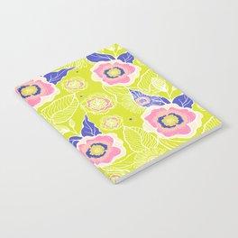 Lime Poppy Notebook