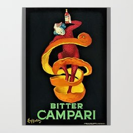 Colorful Bitter Campari Spirits Vintage Advertisement Poster