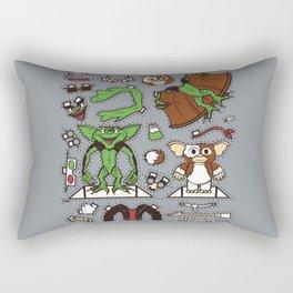 Dress up Gizmo and Gremlin Rectangular Pillow