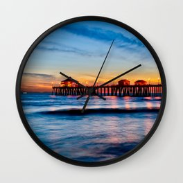 Surf City Sunset  11/17/14 Wall Clock