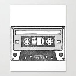 It's An Old School Thing - 90s Vintage Casette Canvas Print