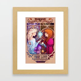 Let Me In - quote version Framed Art Print