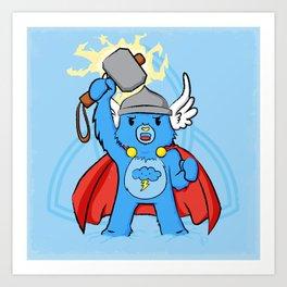 Thor, bear of thunder Art Print