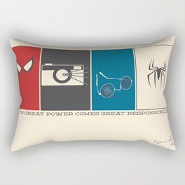 With Great Power Comes Great Responsibility Rectangular Pillow