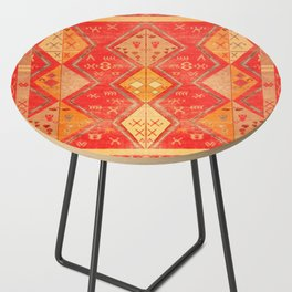 N254 - Oriental Heritage Antique Traditional Tropical Color Moroccan Style Side Table