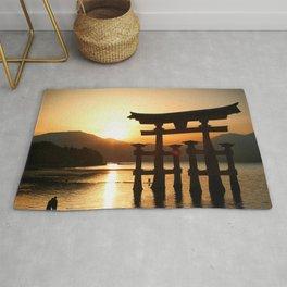 Itsukushima Shrine on Miyajima, Japan Rug