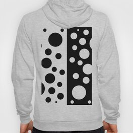 Black and White Spotted Design Hoody