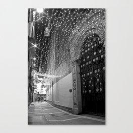 Christmas lights at Johnson's Court, Dublin Canvas Print