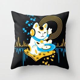 DJ Maneki Throw Pillow