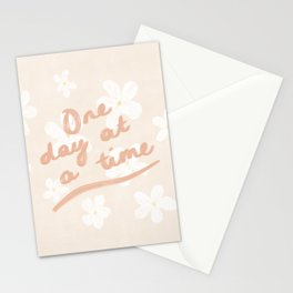 'One Day At A Time' Daisy Design Stationery Cards