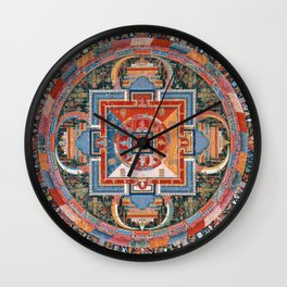 Mandala of Jnanadakini Wall Clock